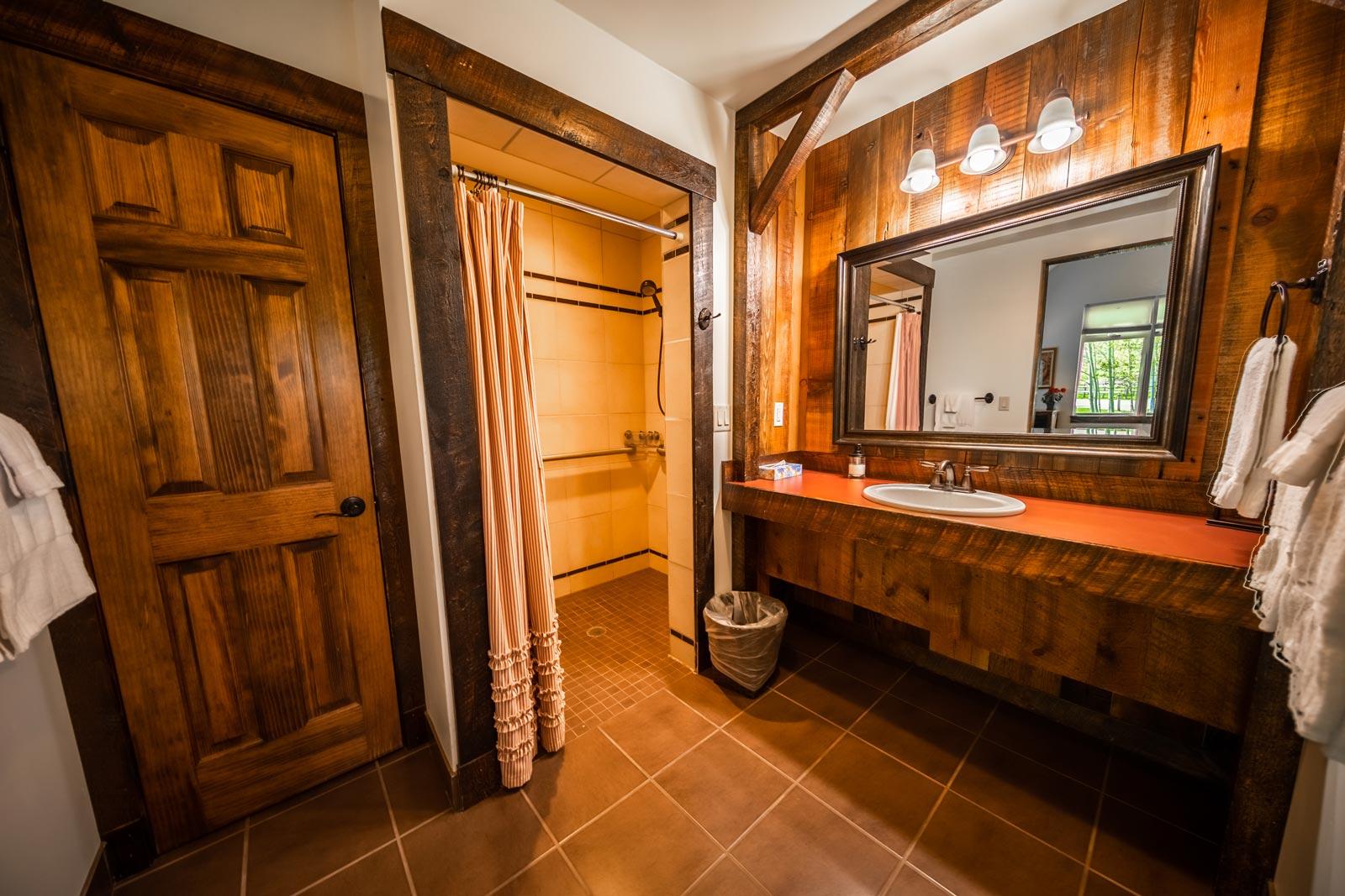 Bathroom (ADA) - Jackson Hole Cabins - Rendezvous Cabins