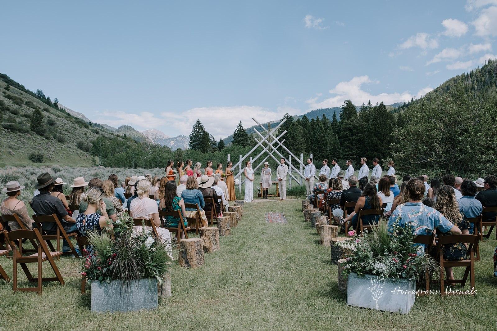 Summer wedding at Moose Creek Ranch