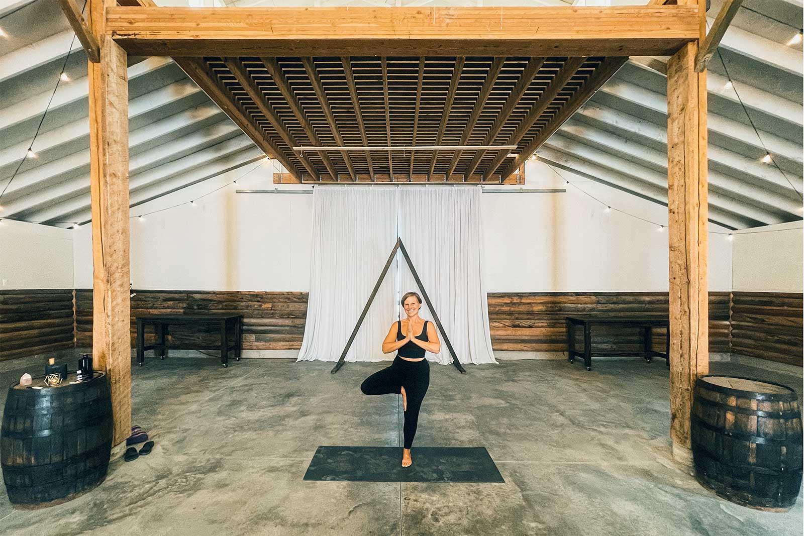 Guests enjoy free yoga at Moose Creek Ranch