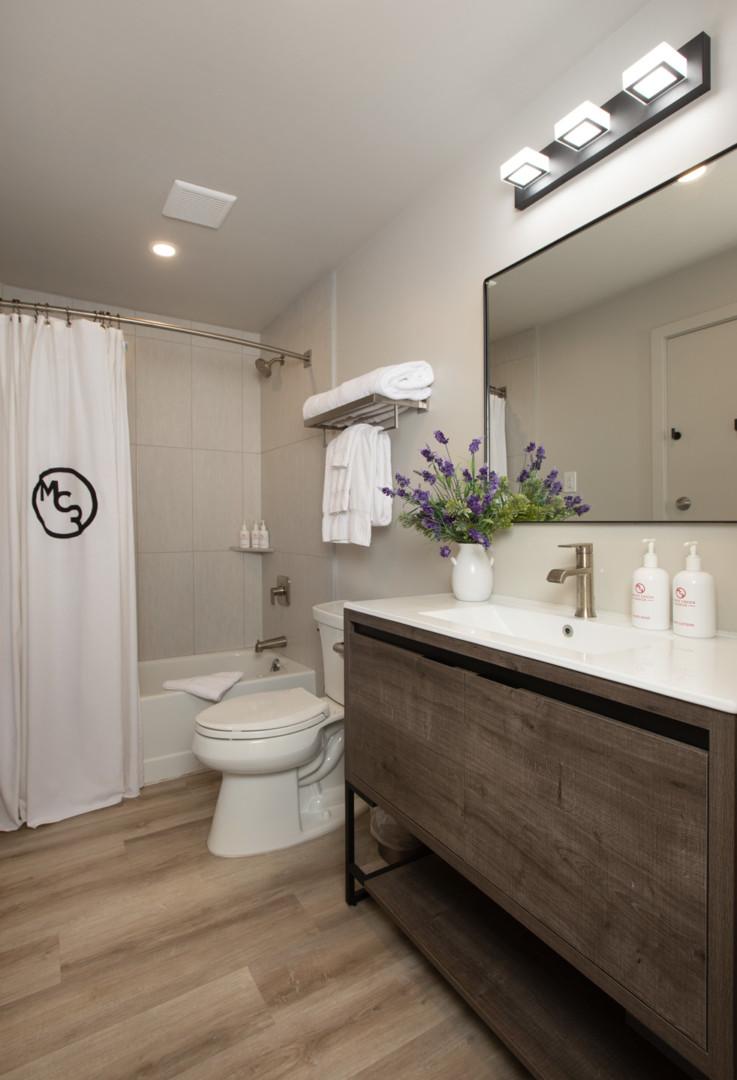 Twin Cabins Bathroom Moose Creek Ranch