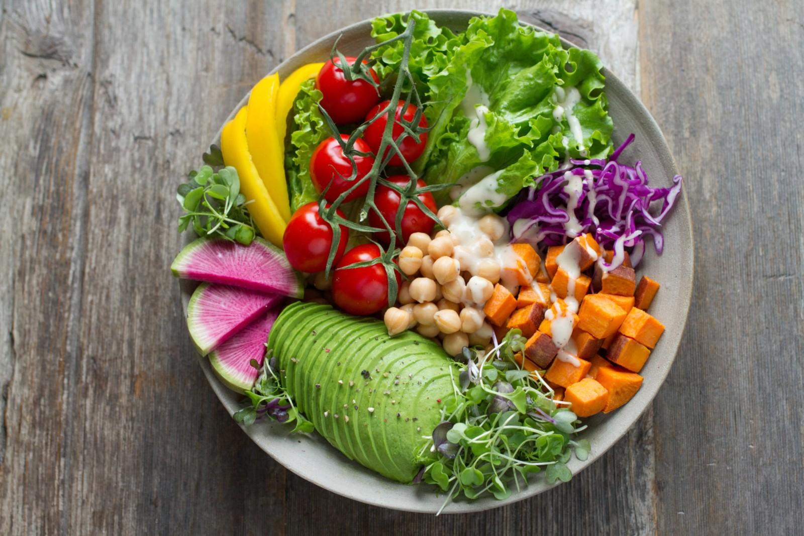 Farm fresh salad sourced from Driggs Farmers Market