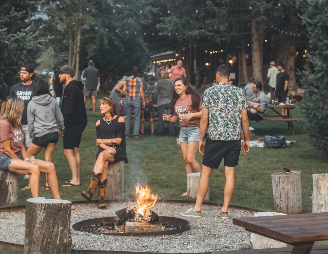 Outdoor dining at Moose Creek Ranch